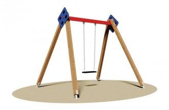 Balançoire en bois avec siège bébé - Devis sur Techni-Contact.com - 1