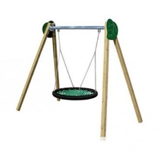 Balançoire en bois pour aire de jeux - Devis sur Techni-Contact.com - 1