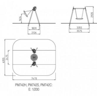 Balançoire en bois pour aire de jeux - Devis sur Techni-Contact.com - 6