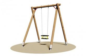 Balançoire en bois pour enfants - Devis sur Techni-Contact.com - 1