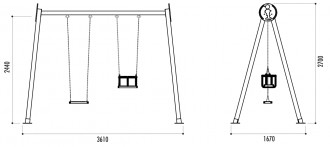 Balançoire en bois traité - Devis sur Techni-Contact.com - 2
