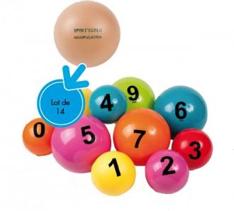 Balles d'éveil scolaires numérotées - Devis sur Techni-Contact.com - 1