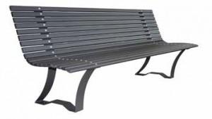 Banc avec assise et dossier en tubes ovales  - Devis sur Techni-Contact.com - 1
