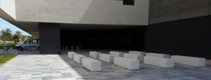 Banc béton urbain tetris I - Devis sur Techni-Contact.com - 2