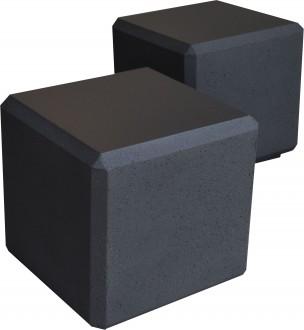 Banc cube béton noir - Devis sur Techni-Contact.com - 1
