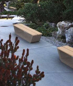 Banc de jardin en béton et bois - Devis sur Techni-Contact.com - 1