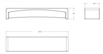 Banc en béton L 2500 mm - Devis sur Techni-Contact.com - 2