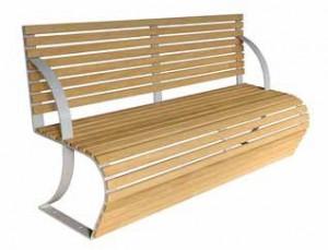 Banc en bois et acier courbés - Devis sur Techni-Contact.com - 1