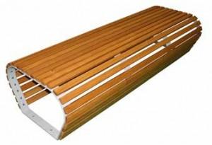 Banc en bois et acier courbés - Devis sur Techni-Contact.com - 2