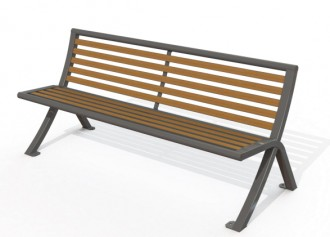 Banc public métal 1752 mm - Devis sur Techni-Contact.com - 1