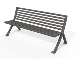 Banc public métal 1752 mm - Devis sur Techni-Contact.com - 2