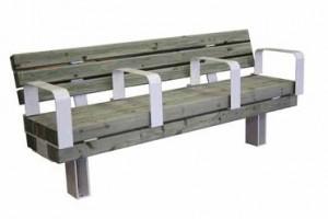 Banc public bois acier avec accoudoirs - Devis sur Techni-Contact.com - 1