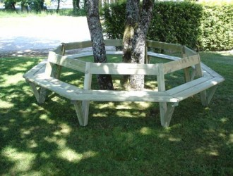 Banc tour d'arbre en pin - Devis sur Techni-Contact.com - 1