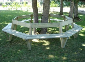 Banc tour d'arbre en pin - Devis sur Techni-Contact.com - 3