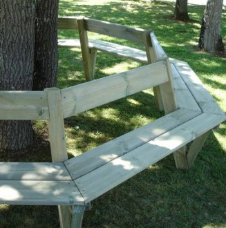 Banc tour d'arbre en pin - Devis sur Techni-Contact.com - 4