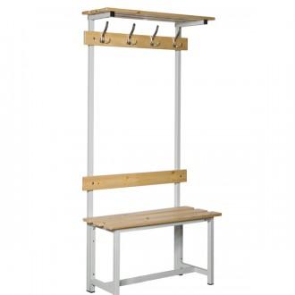 Banc vestiaire simple en bois et acier - Devis sur Techni-Contact.com - 1