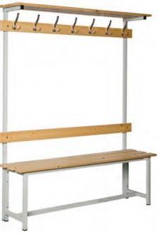 Banc vestiaire simple en bois et acier - Devis sur Techni-Contact.com - 2