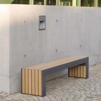 Banquette publique en acier et bois - Devis sur Techni-Contact.com - 2