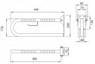Barre d'appui relevable inox avec ergogrip - Devis sur Techni-Contact.com - 2