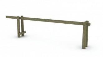 Barrière basculante en pin traité - Devis sur Techni-Contact.com - 1
