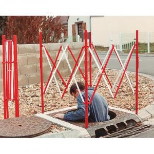 Barrière de chantier extensible en acier - Devis sur Techni-Contact.com - 2