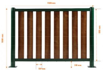 Barrière de ville lames en bois - Devis sur Techni-Contact.com - 2