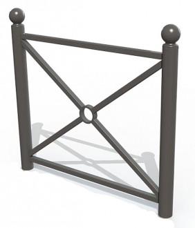 Barrière de ville lisse et croix - Devis sur Techni-Contact.com - 1