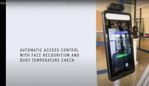 Terminal reconnaissance faciale avec contrôle température - Devis sur Techni-Contact.com - 2