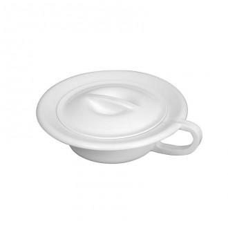 Bassin de lit rond 2,5 L a couvercle blanc - Devis sur Techni-Contact.com - 1