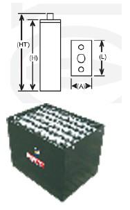 Batteries tractions 700 Ah - Devis sur Techni-Contact.com - 1