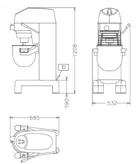 Batteur mélangeur 30 litres - Devis sur Techni-Contact.com - 2
