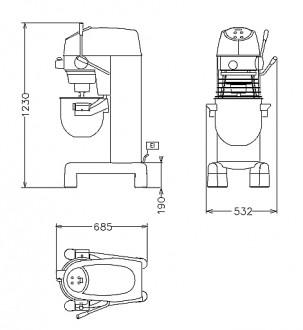 Batteur mélangeur boulangerie pâtisserie - Devis sur Techni-Contact.com - 2