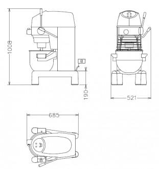 Batteur mélangeur mécanique sur table - Devis sur Techni-Contact.com - 2