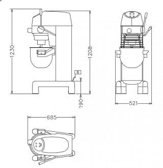 Batteur mélangeur modèle sol - Devis sur Techni-Contact.com - 2
