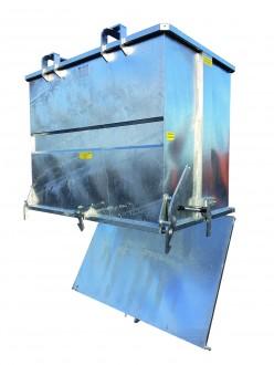 Benne à déchets à fond ouvrant 2000 Litres - Devis sur Techni-Contact.com - 1