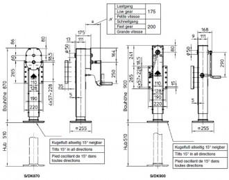 Béquille télescopique pour remorques - Devis sur Techni-Contact.com - 2