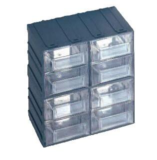 Bloc tiroirs transparents en polypropylène - Devis sur Techni-Contact.com - 1