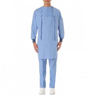 Blouse médicale casaque à bavette 100% Coton - Devis sur Techni-Contact.com - 1