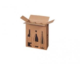 Boîte 1 à 12 bouteilles en carton ondulé - Devis sur Techni-Contact.com - 2
