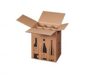 Boîte 1 à 12 bouteilles en carton ondulé - Devis sur Techni-Contact.com - 3