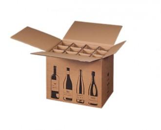 Boîte 1 à 12 bouteilles en carton ondulé - Devis sur Techni-Contact.com - 4