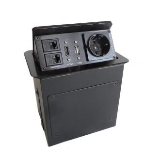 Boîtier de table encastrable avec connectique intégrée - Devis sur Techni-Contact.com - 1