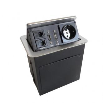 Boîtier de table encastrable avec connectique intégrée - Devis sur Techni-Contact.com - 2