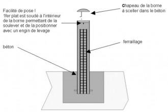 Borne anti-bélier Hauteur 1340 mm - Devis sur Techni-Contact.com - 2