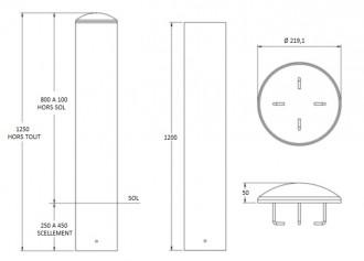 Borne anti bélier en  tube d'acier - Devis sur Techni-Contact.com - 3