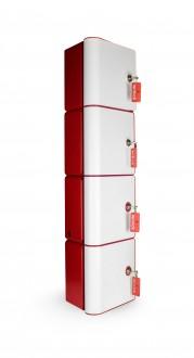 Borne de recharge pour téléphone portable 4 casiers à clefs - Devis sur Techni-Contact.com - 1