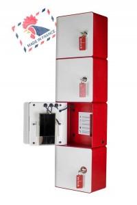 Borne de recharge pour téléphone portable 4 casiers à clefs - Devis sur Techni-Contact.com - 2