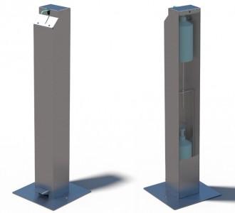 Borne distributrice de gel hydro en inox - Devis sur Techni-Contact.com - 1