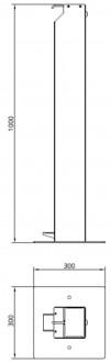 Borne distributrice de gel hydro en inox - Devis sur Techni-Contact.com - 2