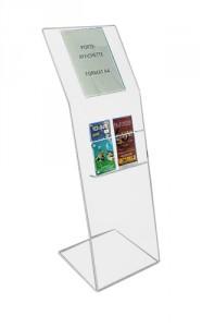 Borne présentoir brochure plexiglas - Devis sur Techni-Contact.com - 1